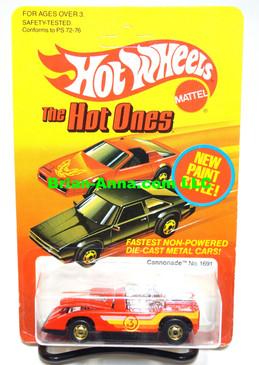 Hot Wheels Red Cannonade w/hogd wheels (ms3-589)