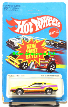 Hot Wheels Turismo, Yellow, BW wheels, unpunched card (ms3-591)
