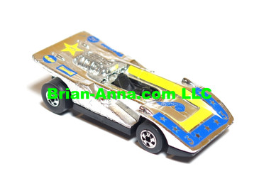Hot Wheels Steam Roller in Chrome, blue/yellow 7-star tampo,  loose (ms3-595)