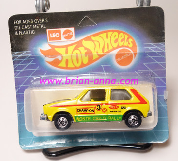 Hot Wheels Leo Mattel India, Hare Splitter in Yellow with Monte Carlo Rally tampo (MS3india-681)
