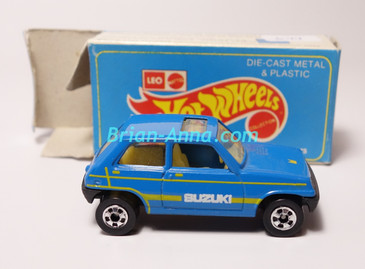 Hot Wheels Leo Mattel India, Blue Suzuki with Box (MS3india-644)
