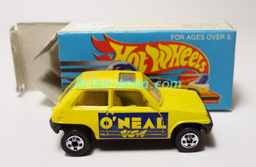 Hot Wheels Leo Mattel India, Bright Yellow Maruti O'Neal USA with Box