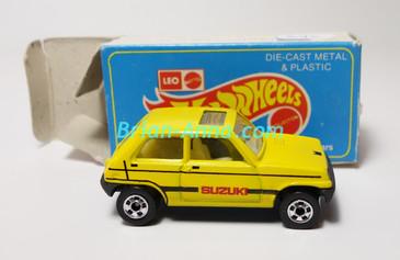 Hot Wheels Leo Mattel India, Bright Yellow Suzuki with Box (MS3india-648)