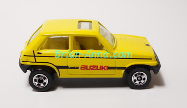 Hot Wheels Leo Mattel India, Bright Yellow Suzuki, LOOSE (MS3india-652)