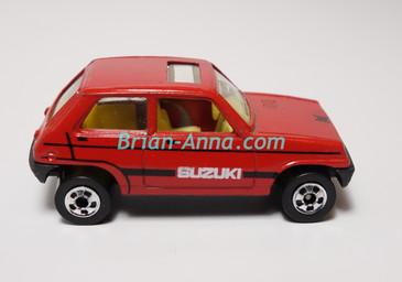 Hot Wheels Leo Mattel India, Bright Red Suzuki, LOOSE (MS3india-658)