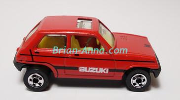 Hot Wheels Leo Mattel India, Bright Red Suzuki, LOOSE (MS3india-659)