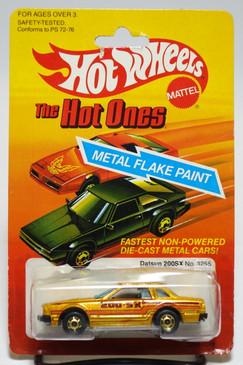 Hot Wheels Datsun 200SX in Metalflake Gold w/HOGD wheels, Malaysia base (ms3-600)
