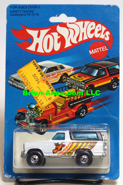 Hot Wheels Geoffrey Bronco, Blackwall whls, Hong Kong, Mint on card