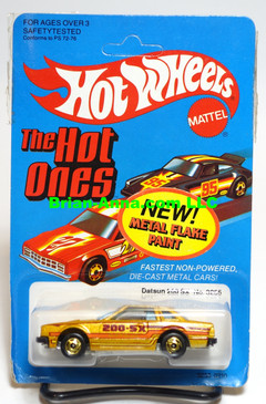 Hot Wheels Datsun 200SX in Metalflake Gold w/HOGD wheels, Malaysia base (ms3-612)