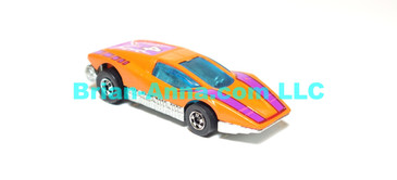 Hot Wheels Large Charge, Orange, Purple, White Tampo, BW, loose (ms-616)