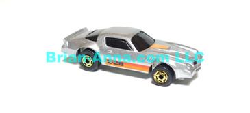 Hot Wheels Camaro Z28 Metalflake Gray, HOGD wheels, Hong Kong base loose (ms-618)