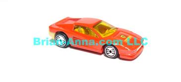 Hot Wheels **Rare Variation** Ferrari Testarossa Red, All Tan Interior, UH wheels,  Malaysia base loose (ms-619)