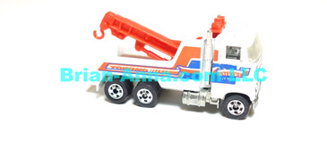 Hot Wheels  Rig Wrecker, White, BW wheels,  Malaysia base loose (ms-620)