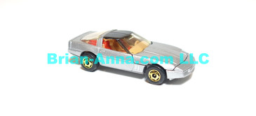 Hot Wheels  80's Corvette, Metalflake Silver with painted base, hogd wheels,  Hong Kong base loose (ms-621)