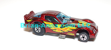 Hot Wheels  Firebird Funny Car, Metalflake Magenta, BW wheels, Malaysia base loose (ms-622)