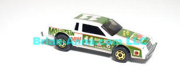 Hot Wheels  Nascar Stocker Racing Stocker, Mountain Dew, Dark Green, hogd wheels, Hong Kong base, loose (ms-624)