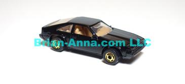 Hot Wheels  '82 Toyota Supra, Glossy Black, hogd wheels, Hong Kong base, loose (ms-626)