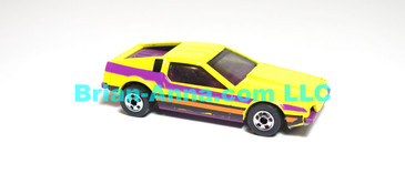 Hot Wheels  Turismo, Yellow, Plum interior, BW wheels, Malaysia base, loose (ms-627)