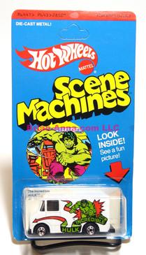 Hot Wheels Incredible Hulk, Scene Machine,  Blackwall whls, Hong Kong, Mint on card (628)