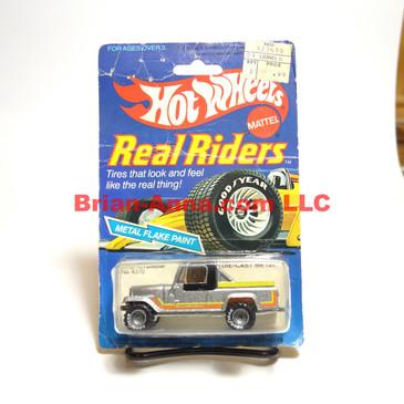 Hot Wheels Real Riders Jeep Scrambler, Metalflake Silver, Gray hubs, Hong Kong base