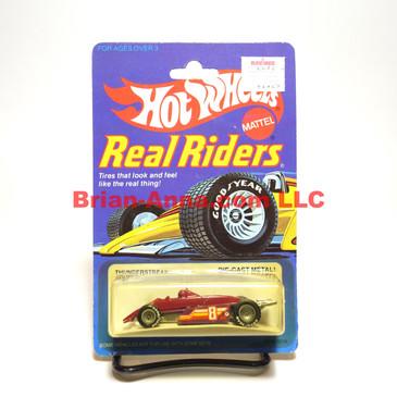Hot Wheels Real Riders Thunderstreak, Maroon, Gray Hubs, Malaysia base