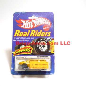 Hot Wheels Real Rider Hi Rakers 1963 Split Window Corvette, Metalflake Gold, Gray Hubs, Hong Kong base