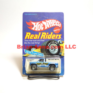 Hot Wheels Real Rider Bywayman, metalflake blue, Gray Hubs, Malaysia base, loose  (ms3-638)