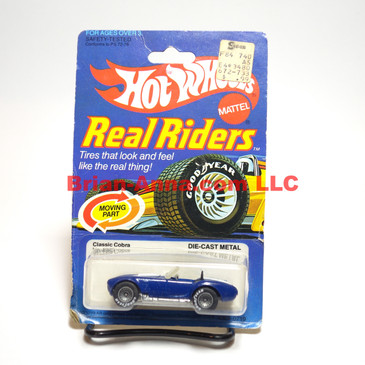 Hot Wheels Real Rider Classic Cobra, Dark Enamel Blue, Gray Hubs, Hong Kong base