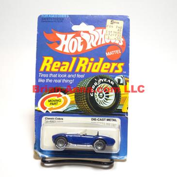 Hot Wheels Real Rider Classic Cobra, Dark Enamel Blue, Gray Hubs, Hong Kong base