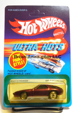 Hot Wheels Ultra Hots Card, Nightstreaker in Burgundy, Ultrahot Wheels, Malaysia base