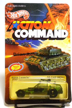 Hot Wheels Action Command unpunched card, Super Cannon, Malaysia base