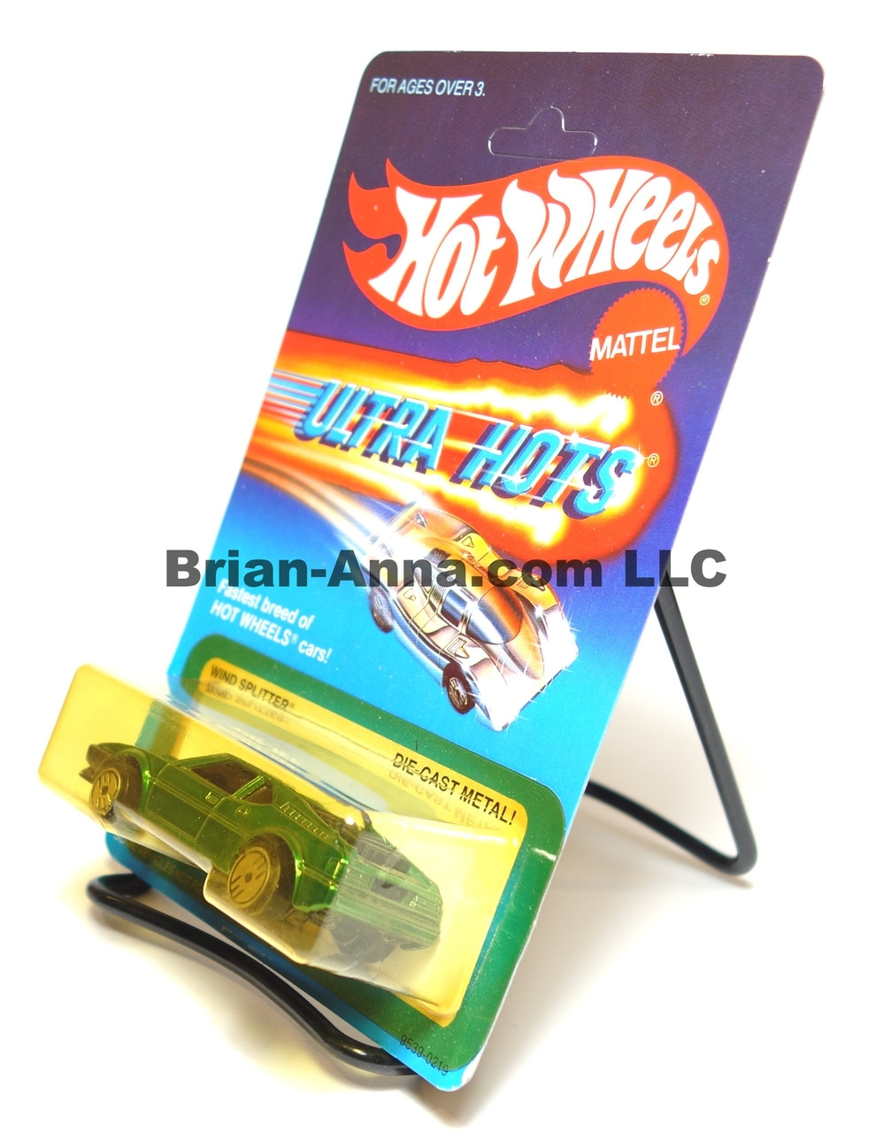 Hot Wheels Ultra Hots Card, Wind Splitter, Green, Ultrahot Wheels, Malaysia base