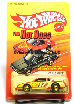 Hot Wheels The Hot Ones Package, Stock Rocket, Red w/hogd wheels, Malaysia base