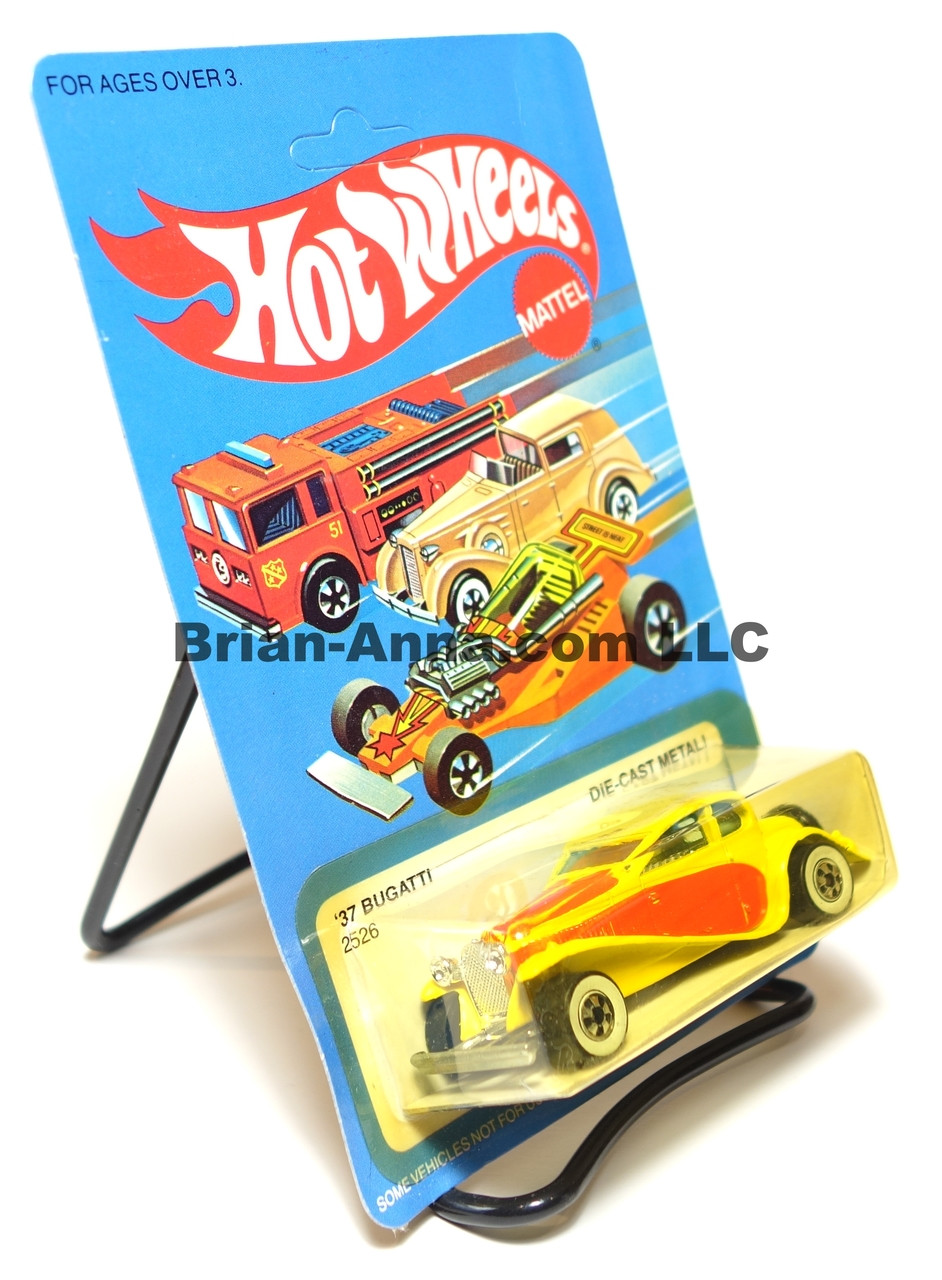 Hot Wheels '37 Bugatti Royale, Yellow w/whitewalls, Malaysia base