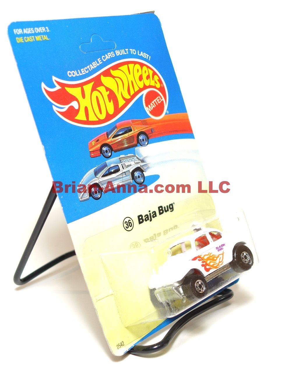 Hot Wheels Experimental Card, White Baja Bug, Blackwall, Malaysia base
