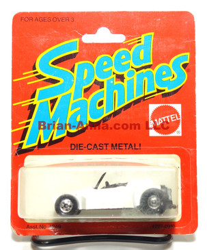 Hot Wheels Speed Machines Pkg, White Rock Buster, Black interior, Blackwall, Malaysia base