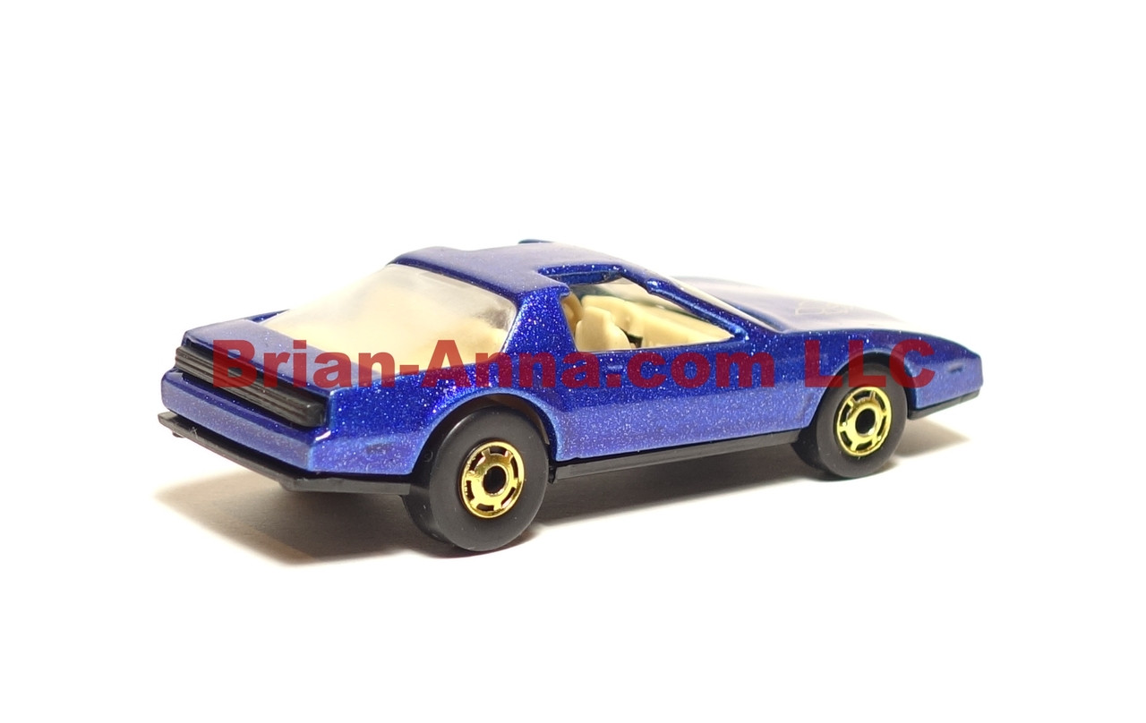 Hot Wheels 80's Firebird, Metalflake Blue, hogd wheels from 3-pak, loose, Malaysia base