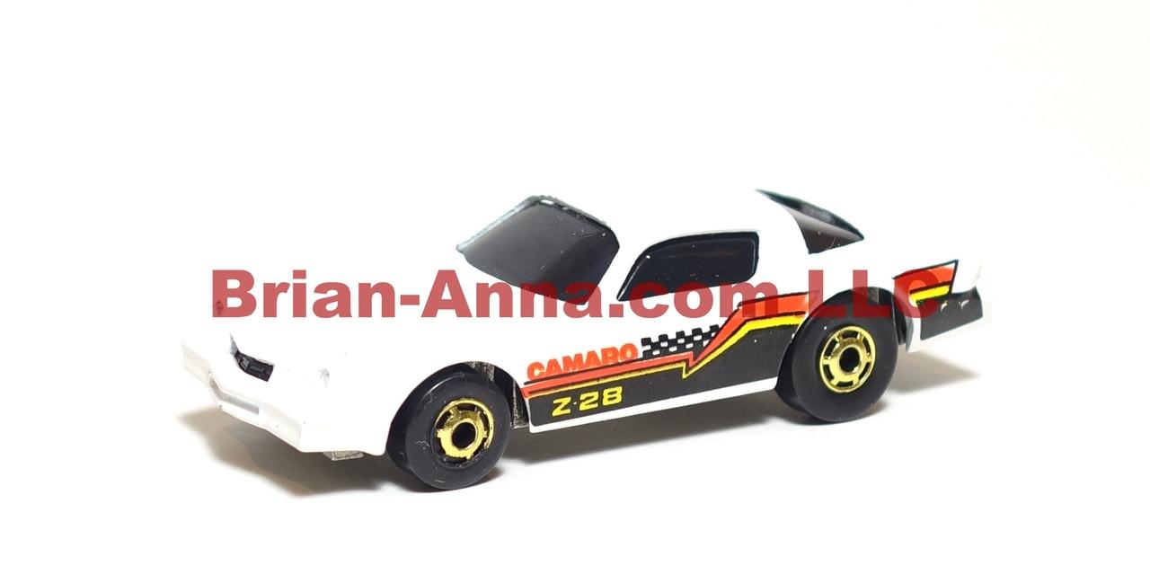 Hot Wheels Camaro Z28, White, hogd wheels from 3-pak, loose, Malaysia base