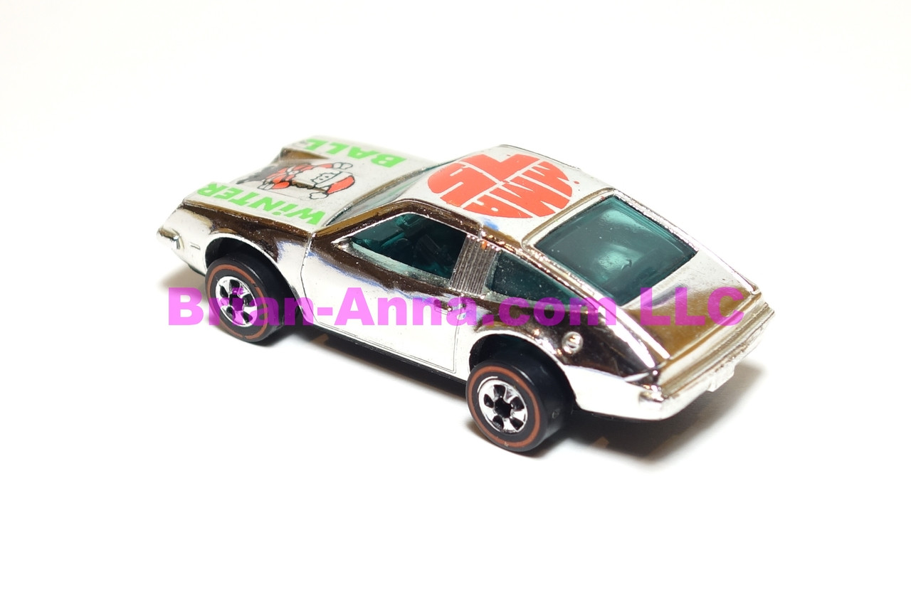Hot Wheels MMA Ball, Mattel Employee 1975 Winter Ball holiday Chevy Monza in Bright Chrome, loose