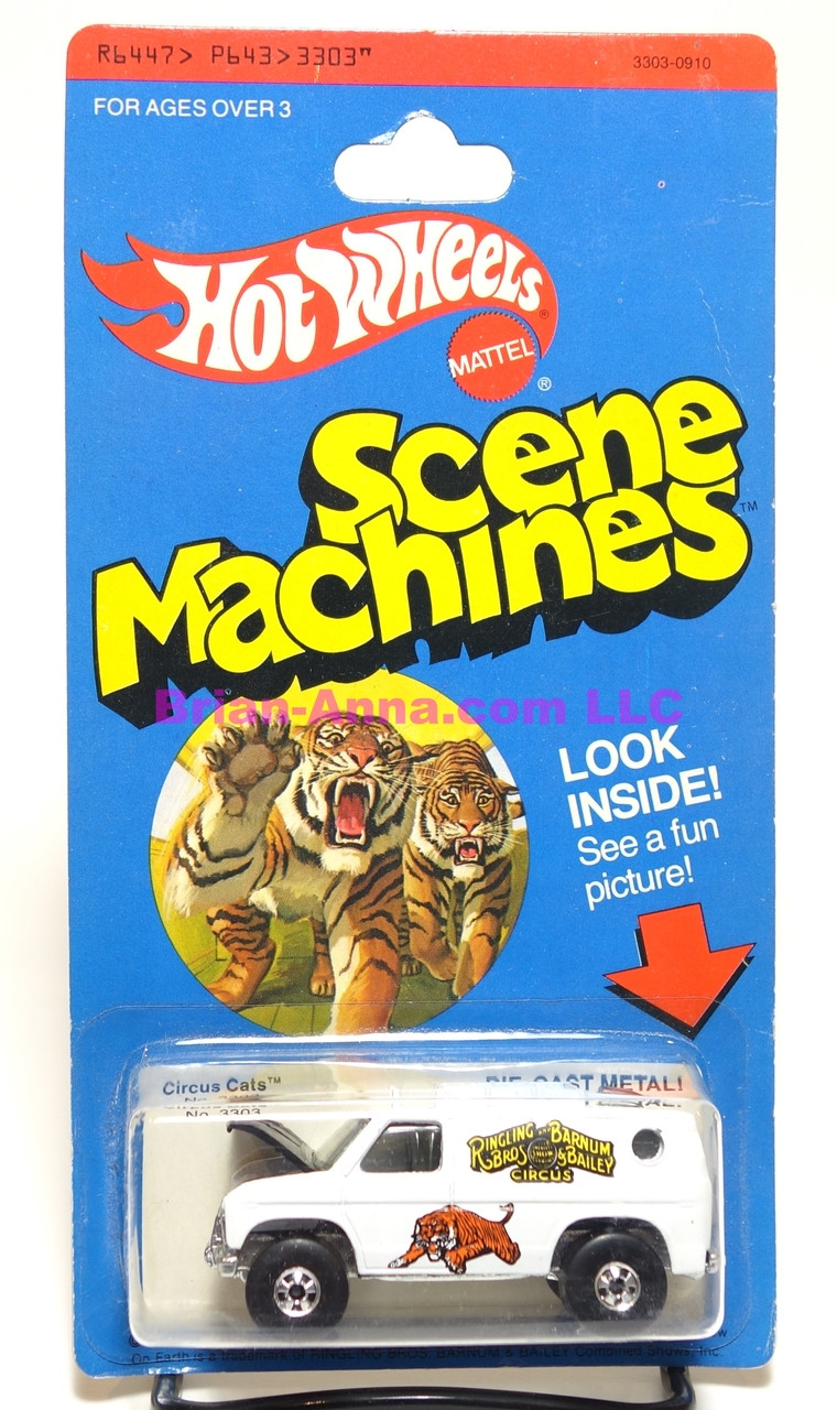 Hot Wheels Scene Machines  Circus Cats on blister