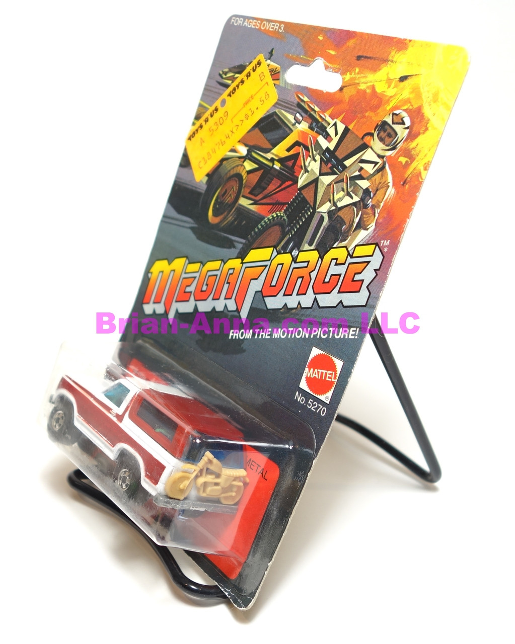 Hot Wheels Mega Force Personnel Carrier, Tan Interior on the blister