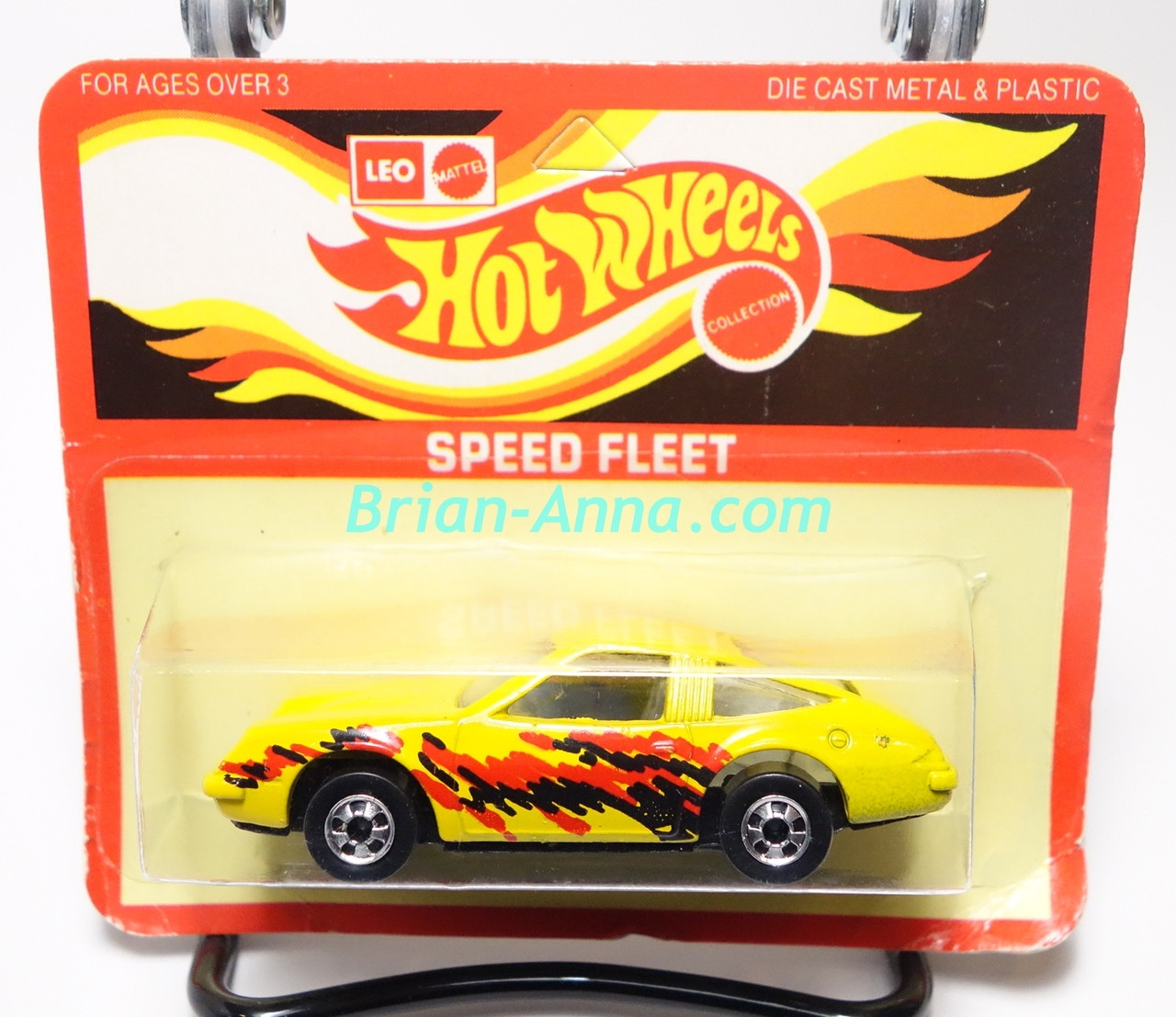 Hot Wheels Leo Mattel India, Yellow Chevy Monza on unpunched card