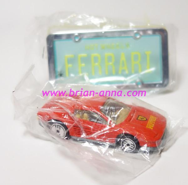 Hot Wheels Leo Mattel India, Ferrari Testarossa Red, Park n Plate