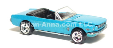 Hot Wheels Ultra Hot Series '65 Mustang Convertible in Metalflake Teal, Deep Dish Rims, LOOSE