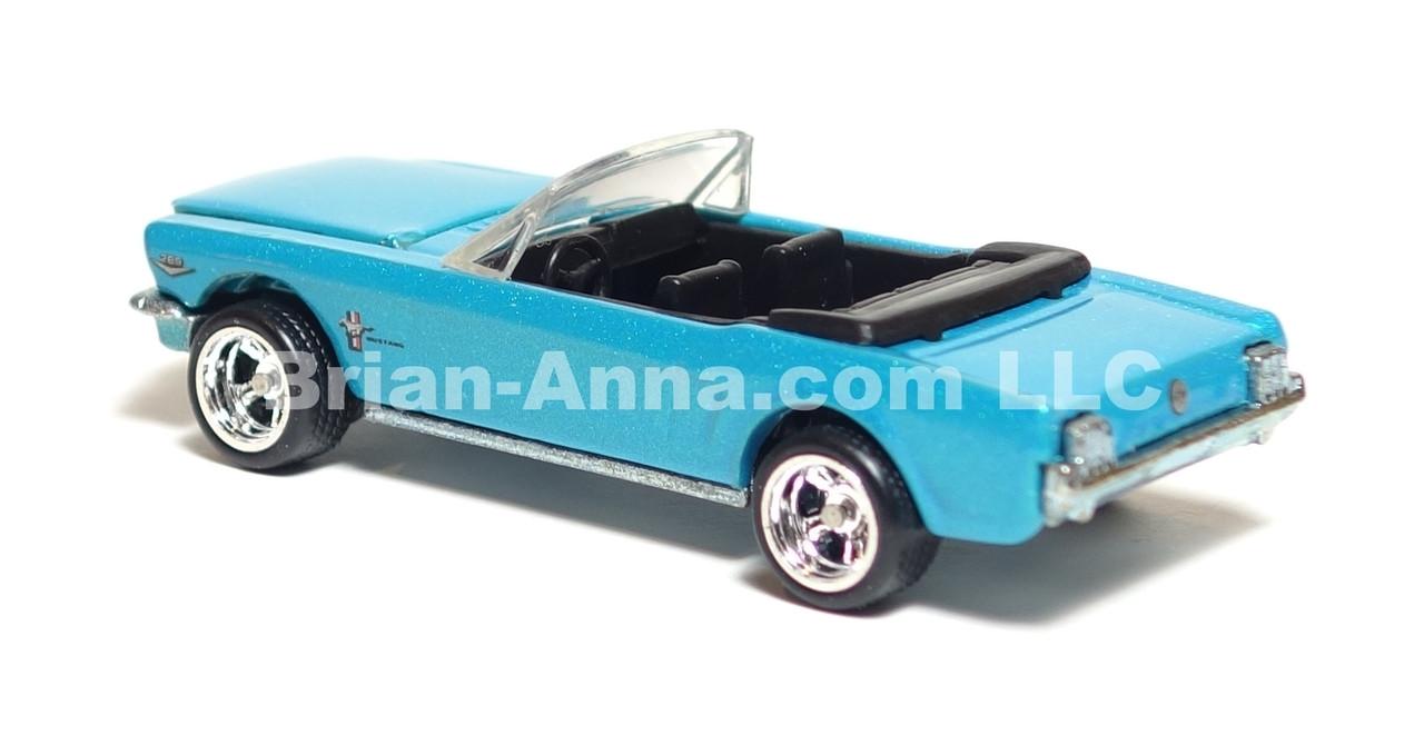 Hot Wheels Ultra Hot Series '65 Mustang Convertible in Metalflake Teal, Deep Dish Rims, LOOSE