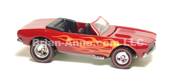ot Wheels Ultra Hot Series '67 Camaro Convertible in Deep Red w/flames, Red line Rubber Tires, LOOSE
