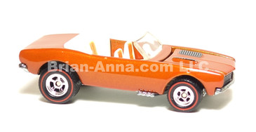 Hot Wheels Ultra Hot Series '67 Camaro Convertible in Burnt Orange, Red line Rubber Tires, LOOSE