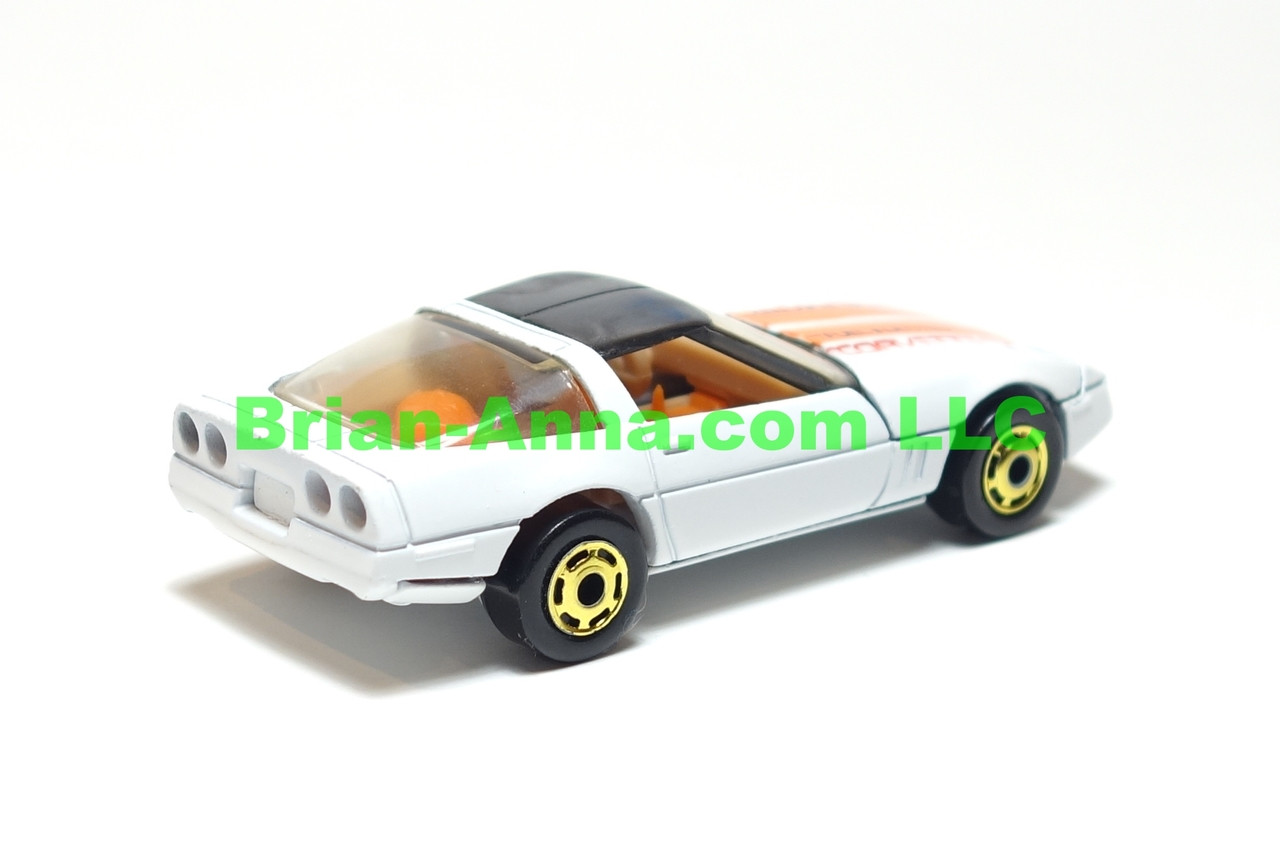 Hot Wheels 80's Corvette White from 1986 Turbo Trax set, LOOSE
