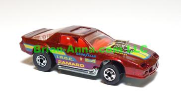 Hot Wheels Blown Camaro Z28, metalflake red, w/red interior, blackwall wheels, LOOSE (ms-700x)