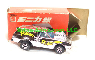 Hot Wheels Mattel Japan Box,  Poison Pinto in Chrome  with blackwalls